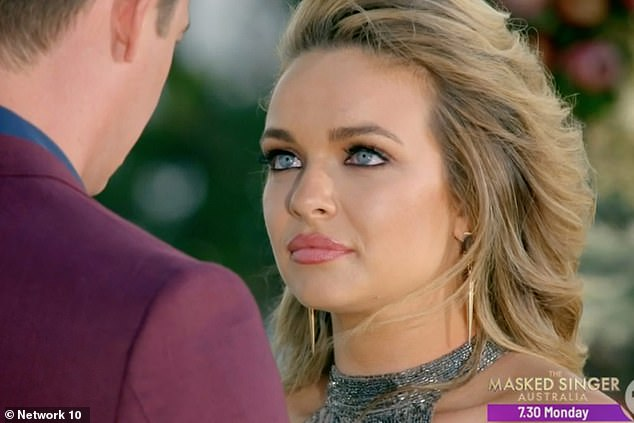 Devastated:Despite being confident he would chose her, Matt said his 'heart belongs to someone else' during the final in South Africa - chose fellow chemical engineer Chelsie instead