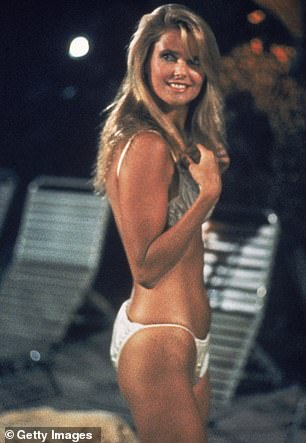 Movie star:Brinkley smiles and wears a bikini swimsuit in a still from 'National Lampoon's Vacation,' directed by Harold Ramis, 1983