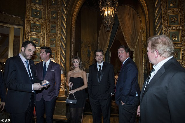 Gaetz was a top Trump ally on Capitol Hill and a frequent guest at Mar-a-Lago. He's seen above at the president's Palm Beach Club in March 2020 during a dinner forBrazilian President Jair Bolsonaro