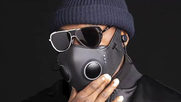 Video: Will.I.Am and Ironhead Studios unveil futuristic mask with  filtration | Daily Mail Online