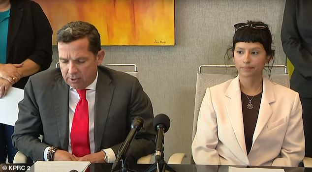 Ashley Solis (right), the first of the 22 Jane Does to sue Houston Texans star Deshaun Watson for sexual misconduct, identified herself publicly at a press conference on Tuesday, saying she now suffers panic attacks and depression after the 25-year-old quarterback exposed himself and touched her with his penis during a private massage. 'My name is Ashley Solis,' the licensed massage therapist said at an emotional press conference alongside her attorney, Tony Buzbee (left). 'Remember that name. ... I was afraid. I'm not afraid anymore'