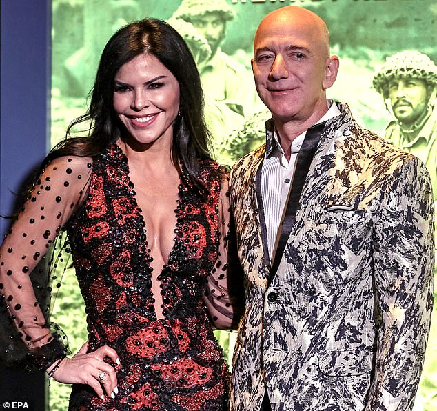 Jeff Bezos had a staggering $177B, cementing his spot as the wealthiest billionaire on the list. Pictured in Mumbai, India, on Jan. 16, 2020, with girlfriend Lauren Sanchez