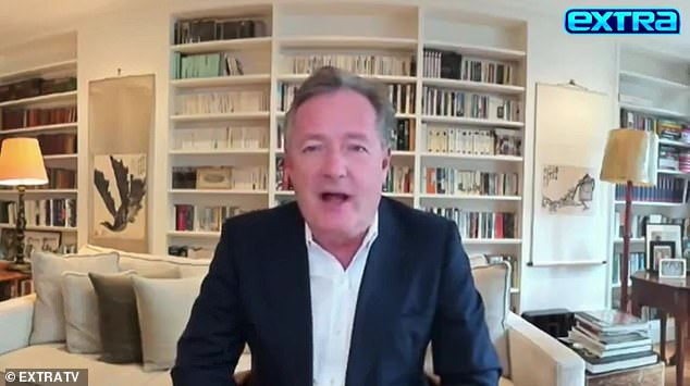 Piers Morgan, DailyMail.com's Editor-at-Large, made the admission in an interview with Extra's Billy Bush, which is set to air Tuesday night