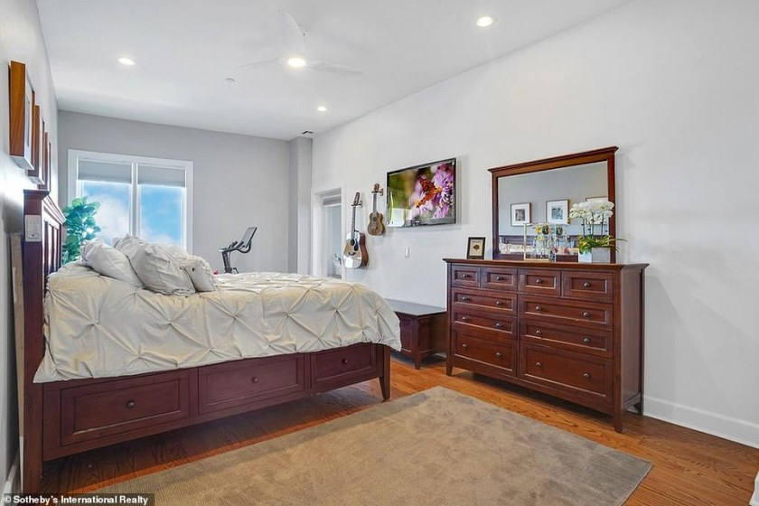 Vibes: No doubt Pete will be enjoying the comforts of home as the master suite is spacious