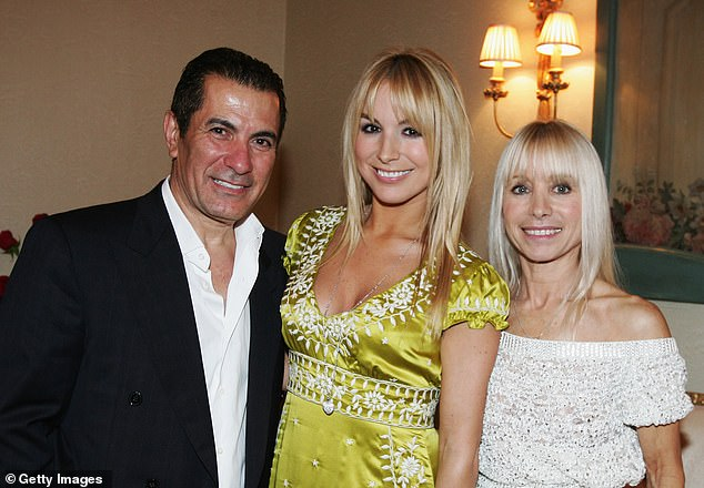 Legend: The Australian TV producer and actor is best known for playing Giovanni Lenzi on the iconic soap Number 96. Pictured with daughter Natalie [center] and wife Effie in 2008