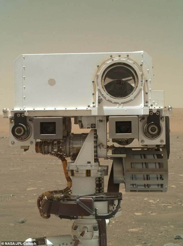 Portrait of the Artist as a Young Bot: WATSON digital image shows part of the Perseverance rover on the Jezero Crater, Mars