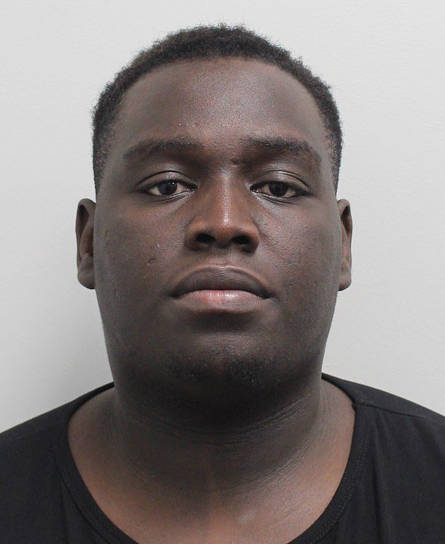 Adilson Mendes-Namdja-Uare, 23, (pictured) was sentenced to 10 years imprisonment for the robbery