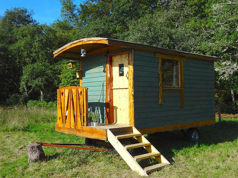 The Great Glenshepherd's hut, pictured, is located on an organic farm in the West Highlands and has stunning views of Ben Nevis