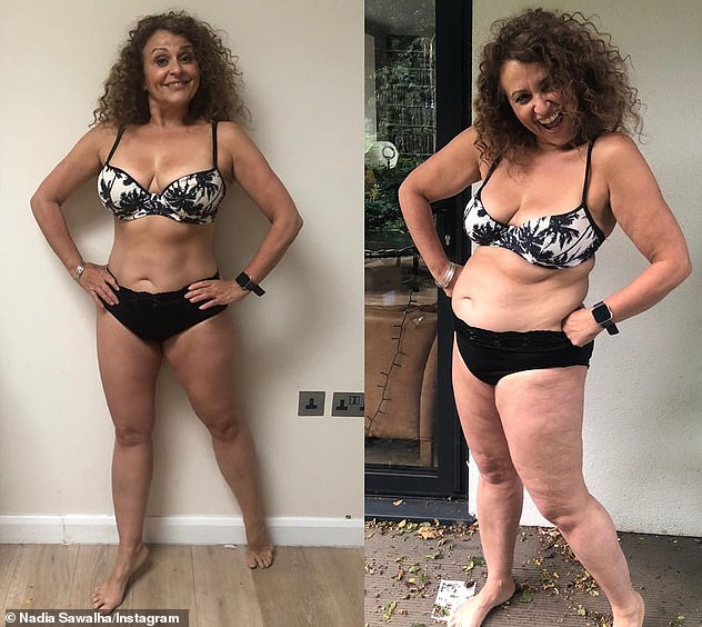 Body acceptance: While speaking candidly about her inspiring social media platform, Nadia revealed that she is campaigning for her followers to call her posts 'body acceptance' rather than 'body confidence' as she is 'not healed' and has to work on herself 'daily'