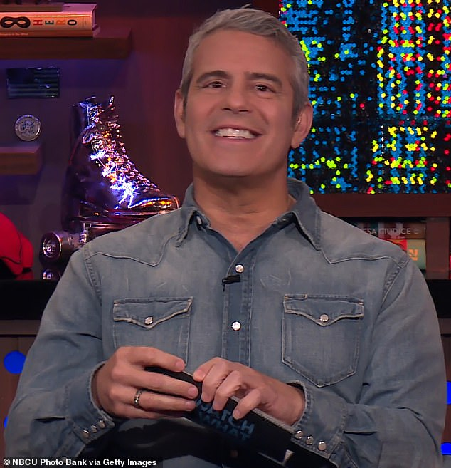 Silver fox: Watch What Happens Live host Andy Cohen who also produces the Real Housewives made the big announcement on Twitter this Tuesday