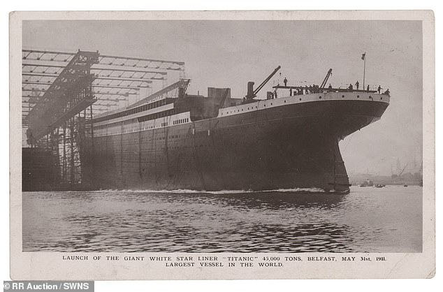 Senior wireless operator Jack Phillips, then 24, wrote the postcard bearing a picture of the famous ship 109 years ago on March 7 1912 to his sister Elsie Phillips