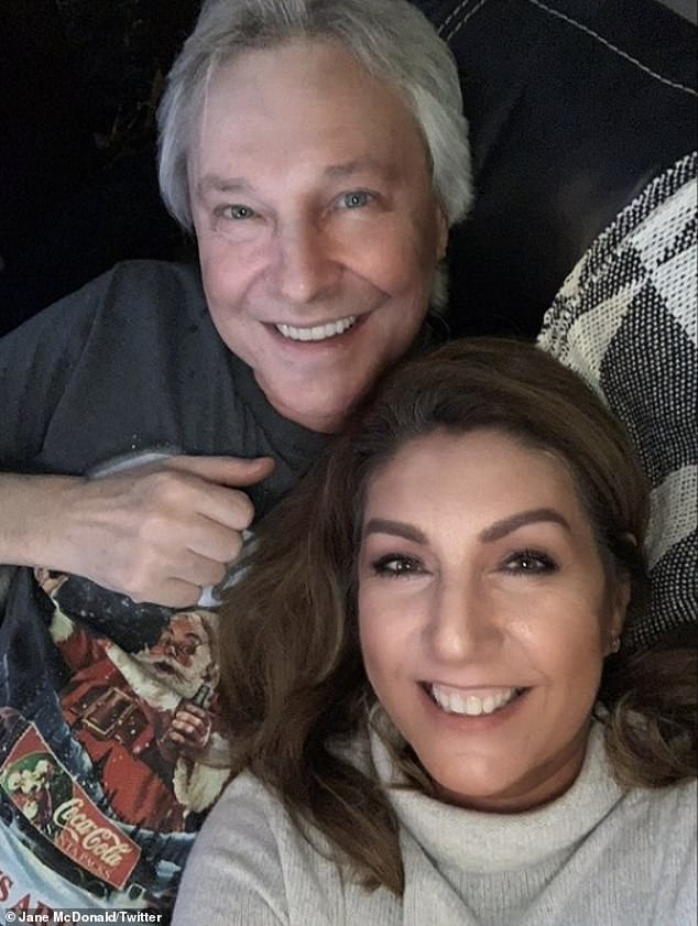 Sad news:Jane McDonald has revealed that her fiancé Eddie Rothe has died aged 68, after a months-long battle with lung cancer