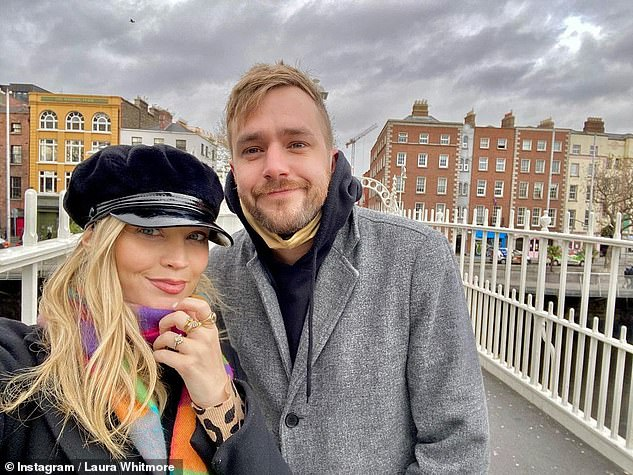 New parents: While it is not known exactly when she gave birth, Stacey Dooley stepped in to host the presenter's BBC Radio 5 show on Sunday (pictured with husband Iain Stirling in 2020)