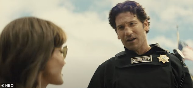 Dashing:Meanwhile Jon Bernthal plays a sheriff whose boss - played by Tyler Perry - orders him: 'We promise absolutes'
