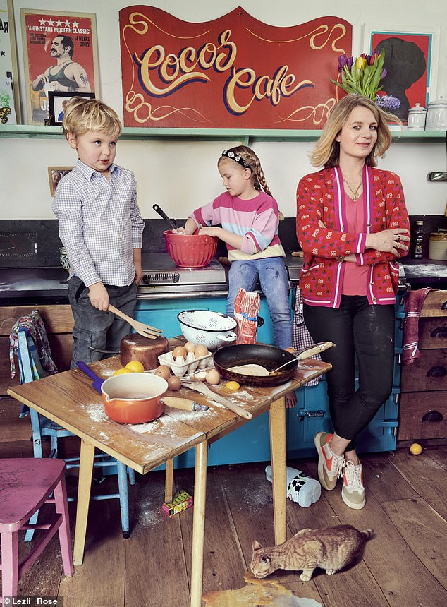 Clover's Yes Day involved her children (pictured) asking for KitKats and Haribos for breakfast, a chaotic baking experience and building a den in their bedrooms