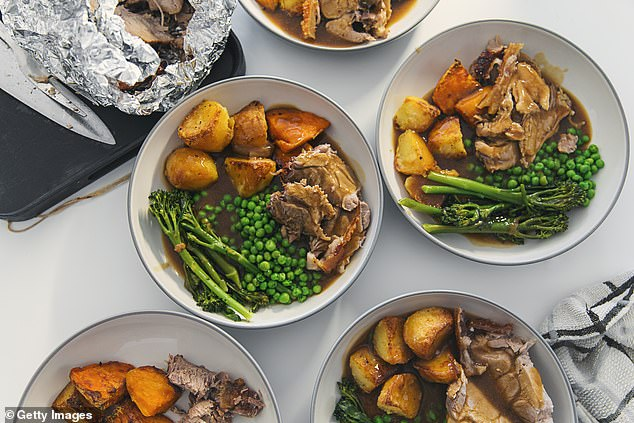 Many said a Sunday roast with 'all the trimmings' or a 'whole roast chicken' was always seen as a luxury (stock image)