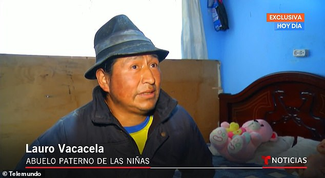 Lauro Vacacela, grandfather of the girls, spoke from the family home in Jaboncillo, Ecuador
