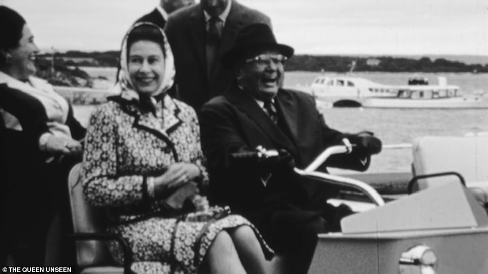 The Queen rides with President Tito in Belgrade in 1972. This picture shows a light-hearted moment for them during what was her first visit to a communist country in 1972. During her stay, informal footage captured them in off guard moments