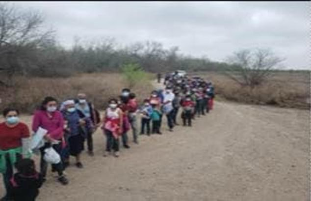 A group of almost 200 migrants was found by the Border Patrol in Texas on Tuesday morning
