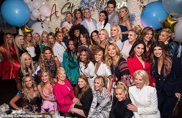 Franchise: Andy has a personal and professional relationship with many of the housewives and all were in attendance for his baby shower in 2019