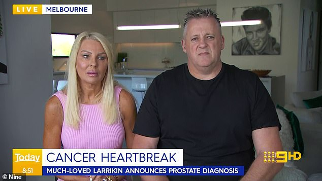 'I can't say I'm doing good': YouTube star Mark 'Angry Dad' Orval gave a heartbreaking update on his 'aggressive' prostate cancer diagnosis on Thursday. Pictured with his wife Sharon