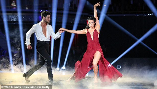 Dance Champion: Val Chmerkovskiy and Rumer are featured in a Dancing With The Stars Season 20 image which they won together