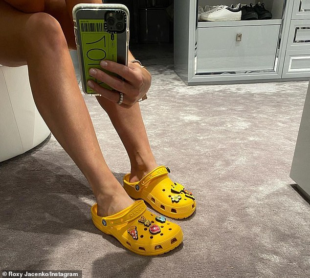 Limited Edition: PR queen Roxy Jacenko managed to get her hands on a pair of Crocs from Justin Bieber's Drew House collaboration