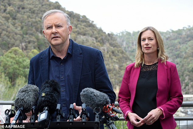 At his first appearance on the hustings, Mr Albanese said Ms White had shown she could make tough decisions amid a 'bit of noise'