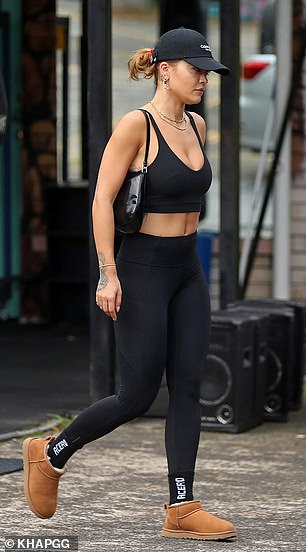 Legs for days: The activewear showcased Rita's perfect pins
