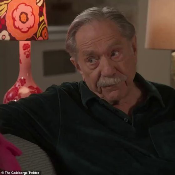 Tribute: ABC's hit comedy The Goldbergs paid tribute to their beloved star George Segal in Wednesday's new episode, which was his last