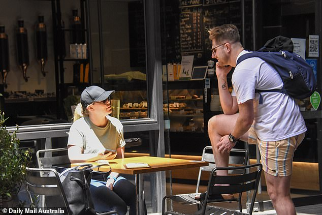 Trouble in paradise?  Just a day after filming Wednesday's episode of Married At First Sight, tensions were apparently still high for Bryce Ruthven and Melissa Rawson, both 31, as they ate breakfast in the Sydney CBD.