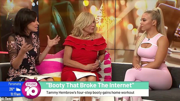 Vocal: She admitted in an interview with Studio 10 in December 2019, `` I hate when people accuse me of doing this.  Pictured with TV hosts Natarsha Belling and Kerri-Anne Kennerley