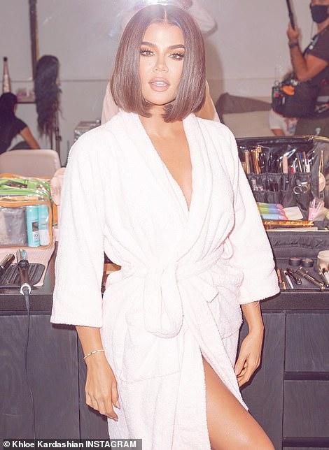 A little like Kim: Here the leggy wonder looked like sister Kim Kardashian