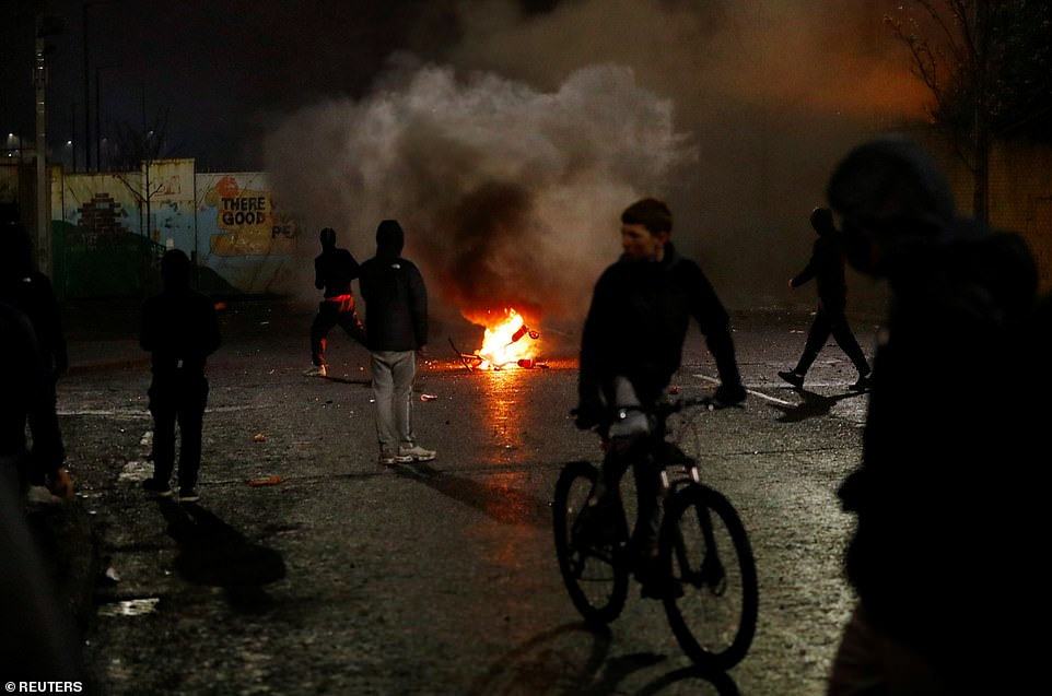 Irish Foreign Minister Simon Coveney branded Wednesday night's events 'disturbing'