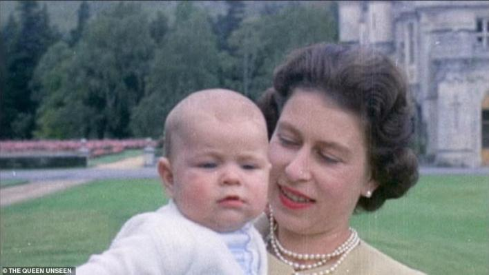The Queen with Prince Andrew as a baby at Balmoral in 1960. The Queen Unseen looks back at The Queen when she was pregnant with her third child, Prince Andrew, and then her youngest son, Prince Edward. She rearranged plans and meetings to spend more time with them and to be able to put them to bed