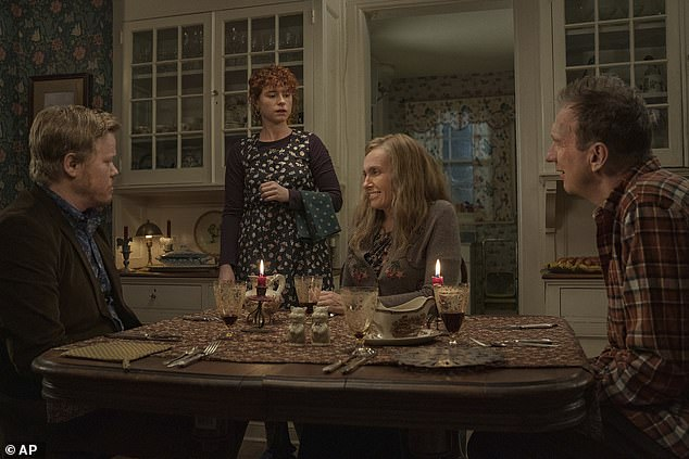 Creepy: In September, Jesse starred with Jessie Buckley, Toni Collette, and David Thewlis in Charlie Kaufman's I'm Thinking Of Ending Things, a dark and comedic horror film.