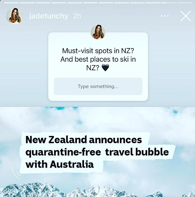 Silly questions?  In the same post, Jadé is shown making a video on her `` funny '' The Real Jadé Tunchy account where she pokes fun at other Instagram users who use the Q&A function to ask silly questions.