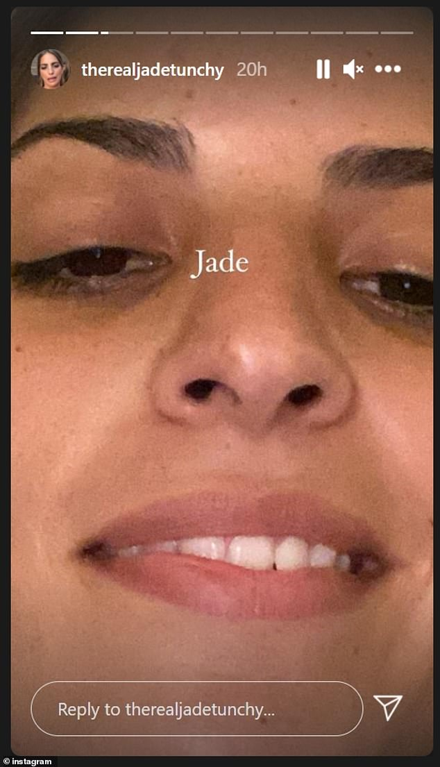 Repeat the behavior: This isn't the first time celebrity spell checking has elicited a reaction from Jadé.