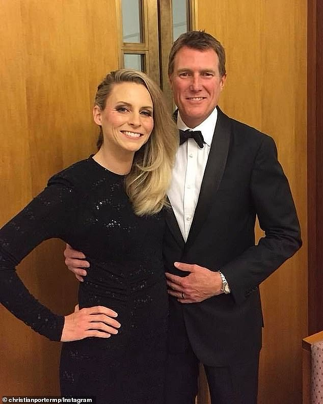 Christian Porter (pictured with estranged wife Jennifer)was accused of raping a 16-year-old member of his debating team 33 years ago - which he strongly denies