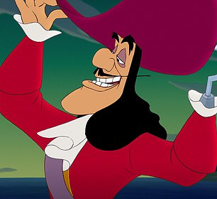 Iconic: Captain Hook's most famous incarnation remains the 1953 Disney film version