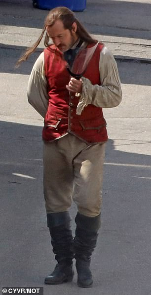 Major role: Hiding his character's iconic hook instead of an arm, Jude kept his right hand hidden