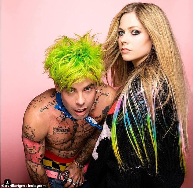 Working relationship: Mod and Avril have already collaborated for weeks on the song Flames de Mod from his new album, while he is also working on Avril's upcoming studio album.