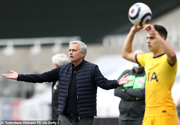 Mourinho is in a battle to save his job and will likely be axed if they finish outside the top six