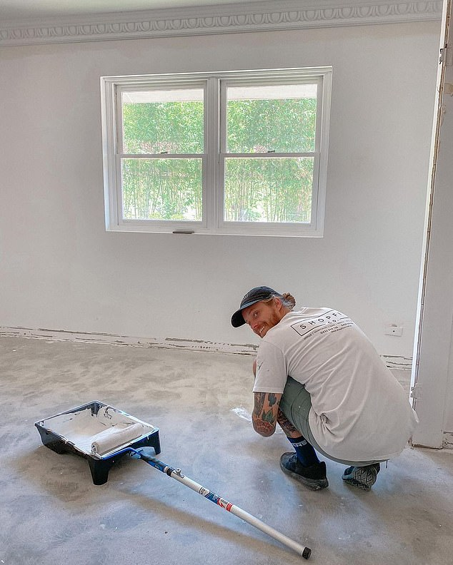 Exhausting: The couple started renovating the carpet in November 2019. Skye previously said on Instagram that `` blood, sweat and tears '' went into the renovation.