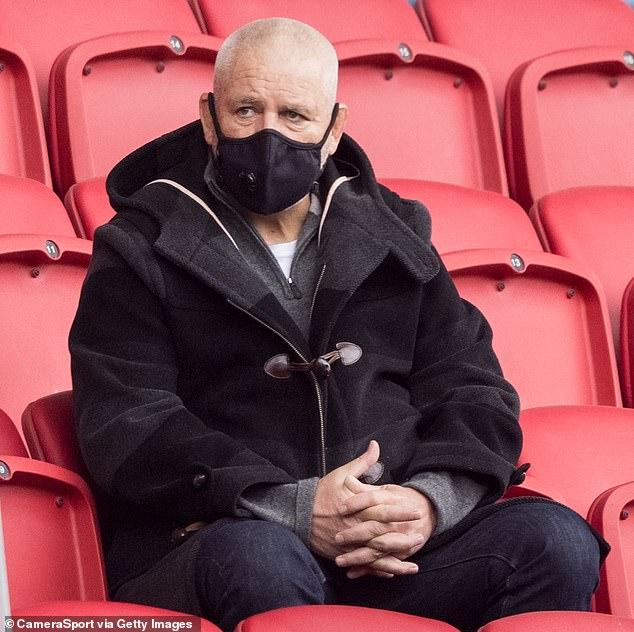 British and Irish Lions head coach Warren Gatland watches Bristol v Harlequins last month