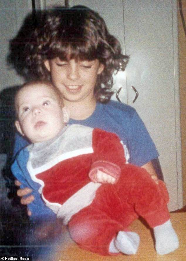 Together: Danielle (pictured with her brother in a childhood photo) insists Jesse was not 'evil' but rather a 'ticking time bomb' who didn't get the help or support he needed