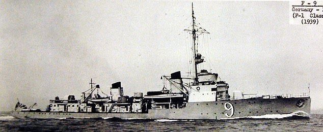 An extract from Job's Military Medal citation details how Job 'sank a fully laden enemy steamer - probably an 'F' boat - while moored in Tobruk harbour'. Pictured: A file photo of a German F boat