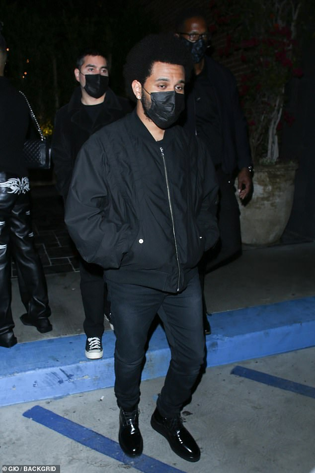 Keeping it consistent again: The Weeknd wore an all-black outfit while attending Belly's birthday party