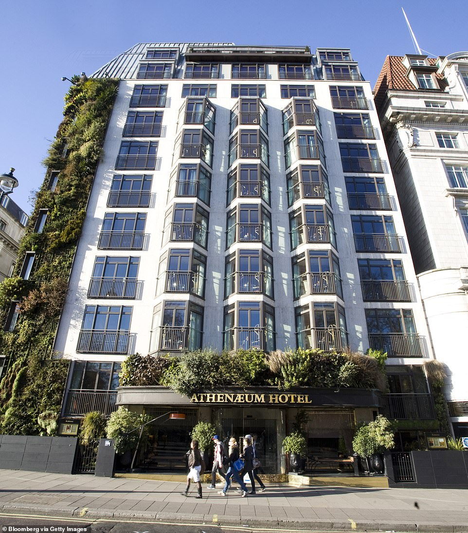 Sir Richard also owned the luxury Athenaeum Hotel and Spa on London's Piccadilly Road