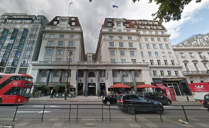 Sir Richard is the owner of the five-star Sheraton Grand (pictured) in London's prestigious Park Lane